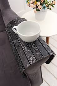 couch arm coffee table amazon com woodenstuff sofa arm table sofa tray table armrest table
