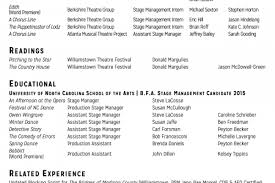 Musical Theatre Resume Examples by Technical Theatre Resume Example Resume Templates Theatre