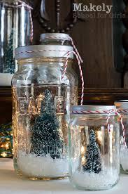 cheap and easy diy tree repurposed jar snow globes