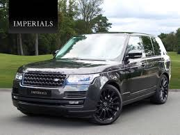 black land rover with black rims land rover range rover 4 4 sdv8 vogue black pack 8 speed auto 76 989