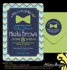 nealon design bow tie baby shower invitations