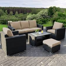 woven patio furniture amazon com giantex 7pc outdoor patio patio sectional furniture