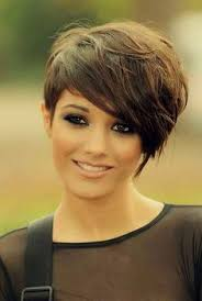 short hair with length at the nape of the neck bouncy pixie cut with extra length at the nape of the neck see
