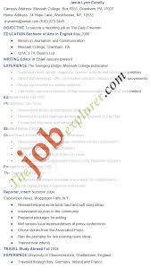 Freelance Writing Resume Samples by Journalism Resume Example Sample Journalism Resume Template