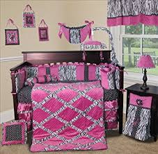 Girls Bedding Purple by Amazon Com Sisi Baby Bedding Purple Zebra Princess 13 Pcs