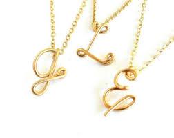 necklace pendants letters images Letter pendant etsy jpg