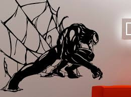 venom sticker spiderman wall decal marvel comics wall art zoom