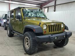 2007 green jeep wrangler 1j4ga69117l211236 2007 green jeep wrangler on sale in tx