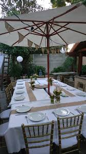 starting with table setup for our backyard bbq party bbq party