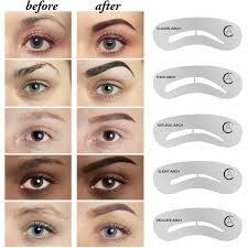 amazon com aesthetica cosmetics brow contour kit 16 piece
