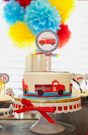 a vintage firetruck birthday party anders ruff custom designs llc