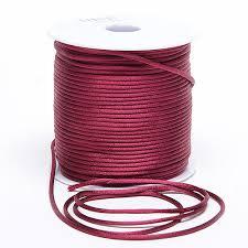 rattail cord 2mm satin rat cord burgundy 2mm x 100 yards bbcrafts