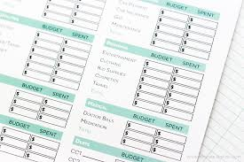 simple free printable budget worksheets printable crush