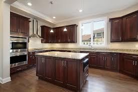glass countertops dark wood kitchen cabinets lighting flooring