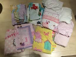 bed duvet covers pillows girls frozen kitty peppa