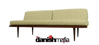 Mid Century Modern Settee Mid Century Modern Sofa Couch Day Bed Lounge Eames Era Danish Mafia