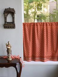 Burnt Orange Curtains Sale Orange Kitchen Curtain Burnt Orange Tier Curtain Rust Curtain