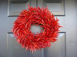 kitchen chili pepper wall art chili pepper christmas organic red chili pepper wreath christmas gift christmas decor