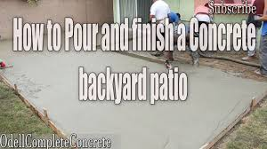 how to pour a backyard concrete patio part 2 diy youtube