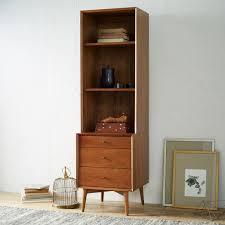 Bookshelf Drawers Mid Century Bookcases Acorn West Elm