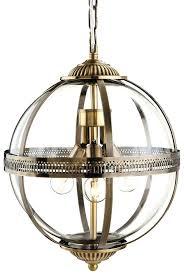Lantern Pendant Lights Antique Brass Glass Globe Lantern Pendant Light Hanging Kit For