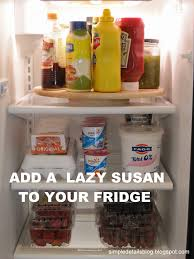 simple details lazy susan in the fridge