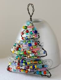 ornament beaded tree wire tree tree
