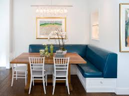 Dining Room Banquette Furniture Dining Room Blue Banquette Bench Design Ideas With White