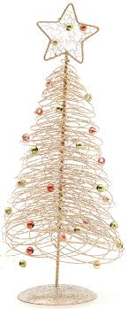 spiral wire tree table top decoration gold