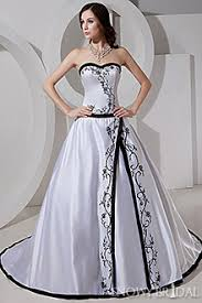 white and black wedding dresses black and white gown wedding dresses snowybridal