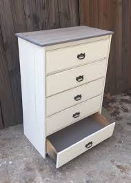 Antique White Bedroom Dressers Distressed Antique White Vintage Chest Of Drawers Featuring Grey