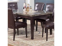 Marble Top Dining Room Table by Acme Furniture 7058 Danville Black Marble Top Seven Piece Dining