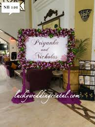 Wedding Rental Decorations Name Boards Decorations On Rent Lucky Wedding Rental
