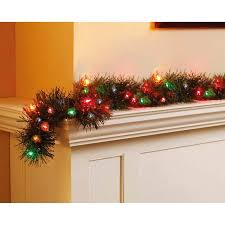 holiday time pre lit 18 u0027 christmas garland multi lights walmart com