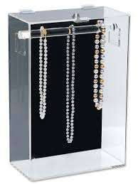 necklace case images Acrylic necklace display case jpg