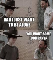 Walking Dead Rick Crying Meme - rick and carl memes imgflip