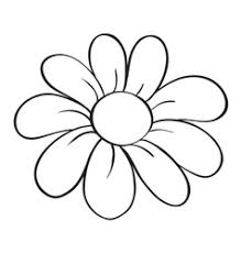 a flower and a pot sketch royalty free vector image