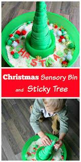 sensory bin and a sticky tree how wee learn