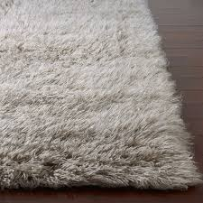 district17 flokati standard rug in natural grey shag rugs solid