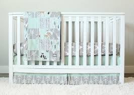 Gray Baby Crib Bedding Mint Woodlands Crib Bedding Gray Baby Bedding Set Arrows Bears