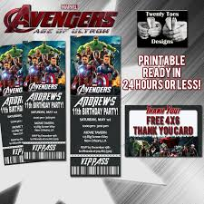 alluring free printable avengers birthday invitations hd images