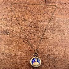 pocket watch chain necklace images Retro antique bronze little prince pocket watch vintage fob quartz jpg