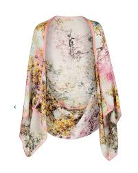 ted baker matia pretty trees cape scarf lyst