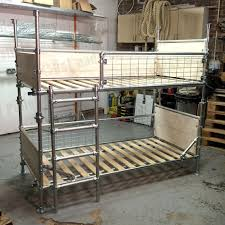 bunk bed frame in scaffold loft style industrial by ratandpallet