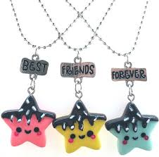 star friendship necklace images 3pcs set friendship candy smile star stereo imitation bff necklace jpg