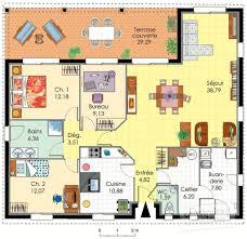 plan de maison plain pied 4 chambres avec garage cuisine maison contemporaine de plain pied dã du plan de