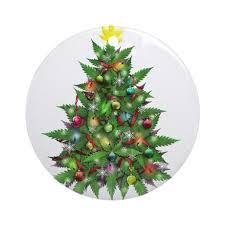marijuana tree ornament by tinagraphics