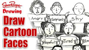 how to draw cartoon faces with expressions youtube