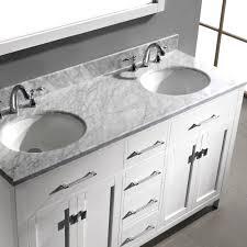 virtu usa caroline 60 bathroom vanity cabinet in white bathtubs plus