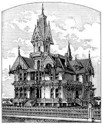 elegant victorian villa free spooky house clip art old design